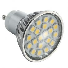 GU10 4W 27SMD 5050 LED BULB SPOT LAMP IN ALUMINIUM SHELL IN WARM WHITE